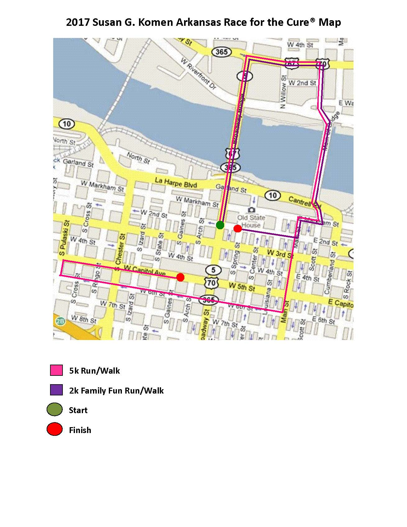 Race Route Map 2017